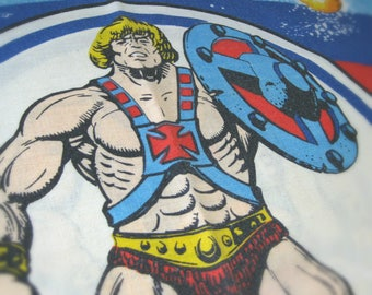 He Man Masters of the Universe Kids Pillowcase, 1983 Mattel - Vintage He-Man MOTU Pillow Case 29 x 20 - Kids Bedding, 80s Gift for Boys, Men