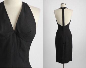 1950s 1960s vintage Grenelle Estévez raw silk cocktail dress * Luis Estévez * designer 5S937