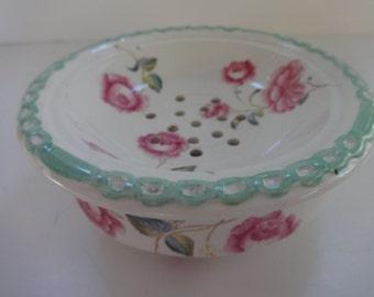 Pretty Vintage Spode China Soap Dish