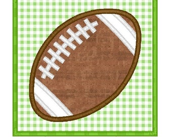 Football Patch Machine Embroidery Applique Design