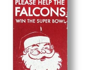 Atlanta Falcons christmas sign - 6 x10.5
