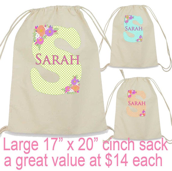 Bridesmaid Bags, Personalized Bridesmaid Gift, Large Drawstring Cinch Sack, Canvas Backpack, Bride Tribe Matching Totebags, Canvas Totebag