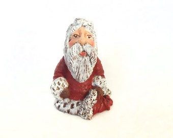 "1 1/2"" Mini Santa, Hand Painted Santa, Resin Santa, Santa Claus, Christmas Santa Claus, Santa, Small Santa, Christmas, New York Treasures"