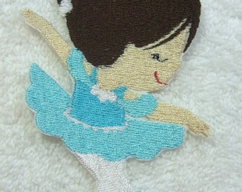 Ballerina Embroidered Iron on Applique Patch Ready to Ship