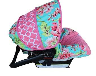 Love Bliss with Quatrefoil Infant Car Seat Cover