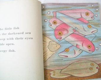 SALE - Vintage Good Night, Good Morning book, Margaret Wise Brown, 1955