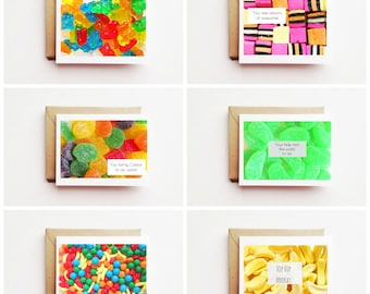Sticky Situation Sweet Thanks Greeting Card Collection. Set of 6