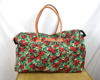 Vintage Strawberry Tote Bag