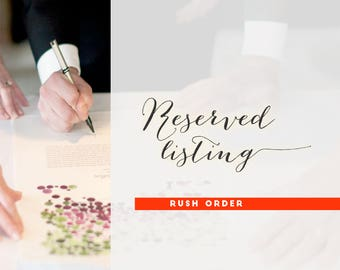 Ketubah and Guest Book Rush Order Upgrade
