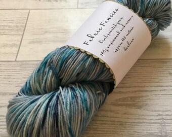 HARBOUR Mini or full skein hand painted superwash fingering sock or dk weight merino yarn
