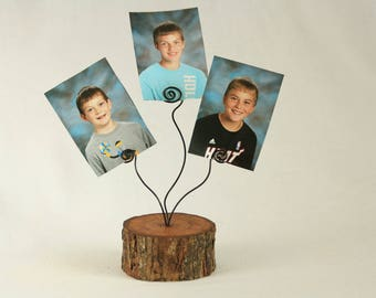 Custom order for Valerie: (6) Rustic Wooden Tree Branch Picture/Photo/Card Holder Stands