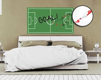 Soccer Field Dry Erase Removable Wall Decal