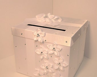 Wedding Card Box White Gift Card Box Money Box Holder-Customize your color