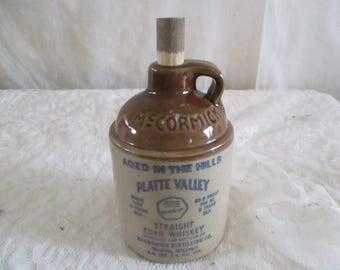McCormick Jug Small Crock, Straight grain whiskey