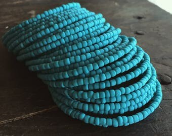Coachella Valley Summer Bracelet Stack - Let's Go to the Beach! Bohemian Slouchy Stack - Also Available in Orange, and Cobalt