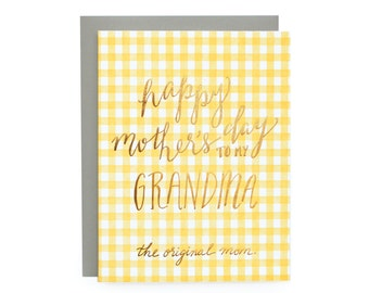 Original Mom - letterpress card