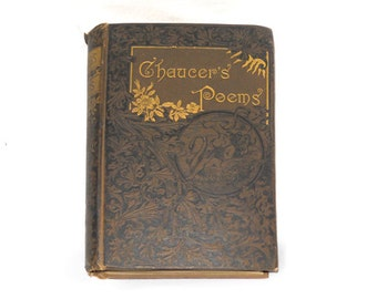 Chaucer's Poems, Geoffrey Chaucer, Antique Poetry Books, Poetry Books, Collectible Poetry Books, Chaucer Book from NewYorkBookseller on Etsy