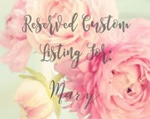 Reserved Custom Listing For: Mary