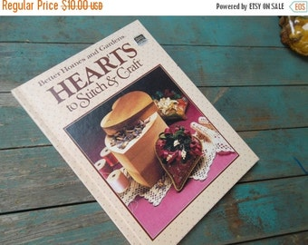 ON SALE Vintage Better Homes and Gardens Hearts to Stitch and Craft