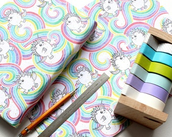 Rainbow Farts A2 wrapping paper sheet