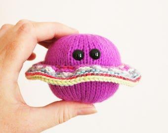 Vibrant Purple Little Ringed Planet