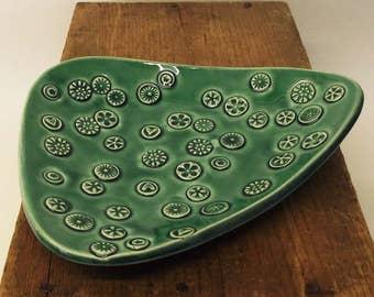 Decorative dish handmade ceramic pottery bowl