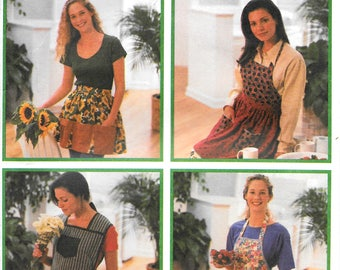Vintage Out of Print Simplicity 9333 Easy Design Your Own Aprons Pattern (s,m,l)