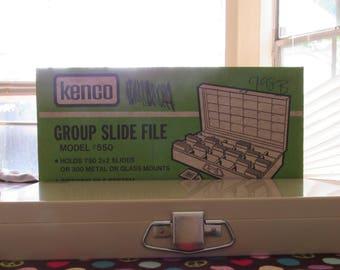 Awesome Retro Kenco Metal Slide File in Original Box