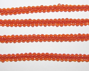 3/8  inch French Gimp Trim favors decor SEWING craft ribbon bolt yards scrapbook quinceanera invitations orange