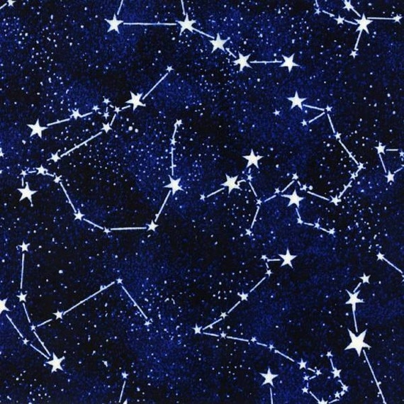Timeless treasures glow in the dark constellations for Timeless treasures space galaxy fabric