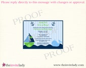 Ahoy Its a Boy, Whale, Green, Baby Shower Invitations-10