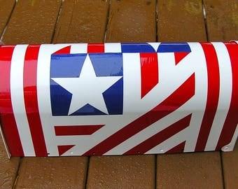 Patriotic Hand Painted Mailbox B