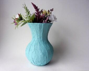 Aqua Blue Sweetheart Vase / blue  home decor / Flower vase / sweetheart vase