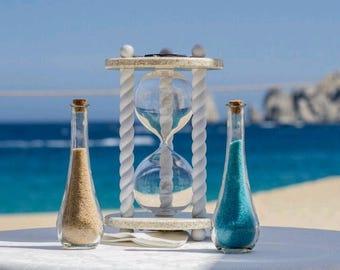 ON SALE - Heirloom Wedding Hourglass - The Paradise Wedding Unity Sand Ceremony Hourglass ™
