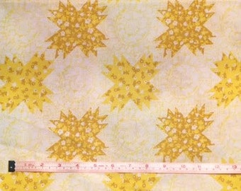 Twin Vintage Yellow Ditsy Floral Fitted Sheet