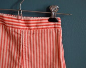 Vintage Red and White Striped Corduroy Pants - Size 24 Months