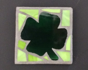 Shamrock mosaic small, green and lime