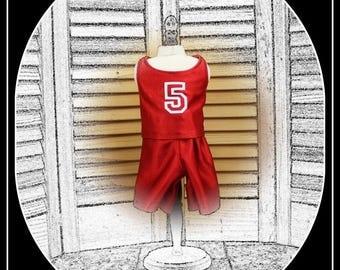"Basketball Uniform for 18"" Boy OR Girl Doll like American Girl, Battat, Magic Attic"
