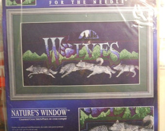 NEW Wolves Natures's Window Counted Cross Stitch Kit Designs for the Needle