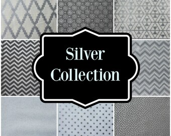 Little and Big Guy NECKTIE Tie - Silver Collection - (Newborn-Adult) - Baby Boy Toddler Teen Man- Holiday Christmas