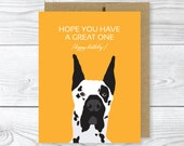 Funny Dog Card, Great Dane Birthday Card