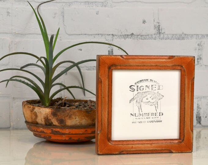 5x5 Square Photo Frame in Shallow Bones Style with Super Vintage Wood Tone Finish - IN STOCK - Same Day Shipping - 5 x 5 Sale Frames