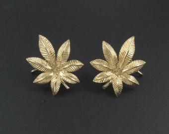 Judith McCann Wingback Earrings, Gold Earrings, Statement Earrings, Judith McCann Earrings, Leaf Earrings, Buckeye Leaf Earrings