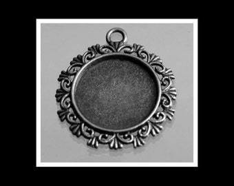 Antique Silver Bezel Cameo Setting Blank- SALE