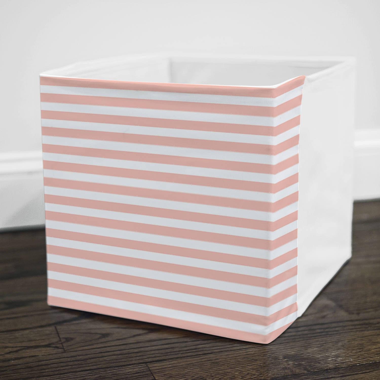pale pink railroad opslag bin kaft past in ikea kallax. Black Bedroom Furniture Sets. Home Design Ideas