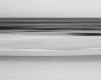 Black and white photography, limited edition print, abstract fine art photography, seascape, long-exposure, minimalist, Fathom