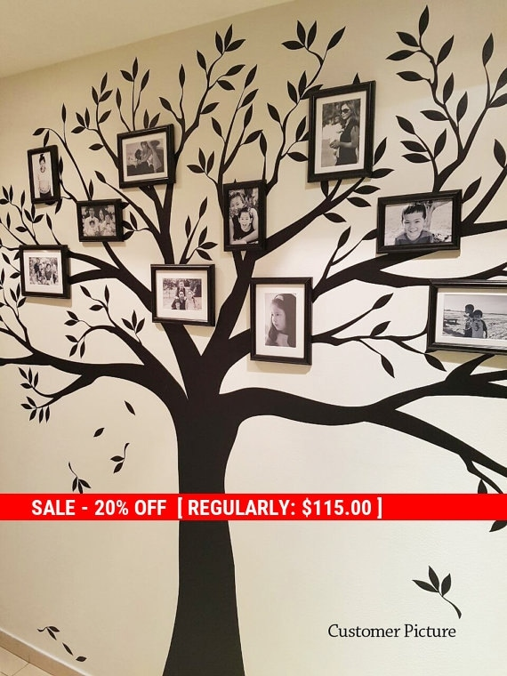 holiday sale stammbaum wandtattoo foto frames von simpleshapes. Black Bedroom Furniture Sets. Home Design Ideas