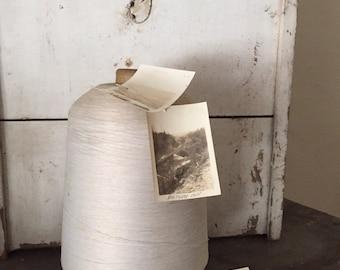 Giant | extra large thread spool | white cotton | art supplies | home decor