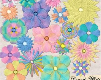 Digital Scrapbooking Embellishment: Funky Felty Flowers