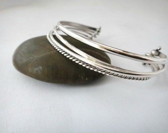 Four Wire Sterling Cuff